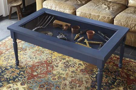 plans a display coffee table
