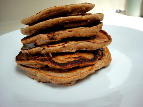 Whole wheat pancake stack