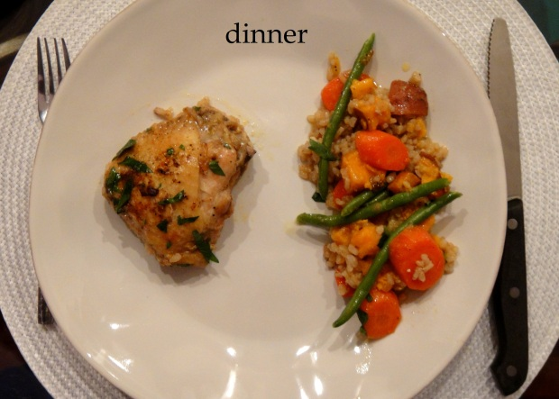 A dinner serving