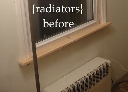 before radiators