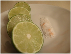 Limes and Himalayan Salt