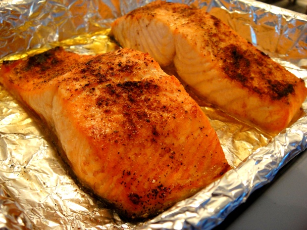 Finished broiling Salmon