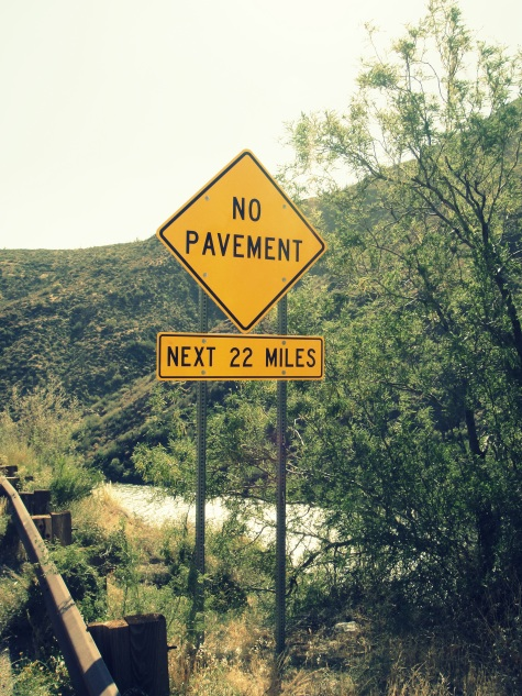 no pavement