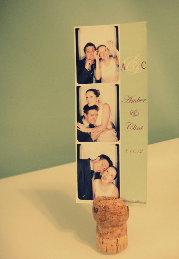 Cork photo holder