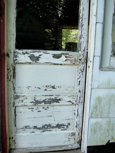 front door of coop