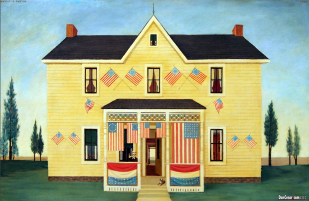 Grandfather's house, Fourth of July Philip C Curtis