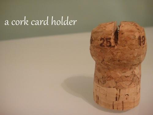 a cork card holder