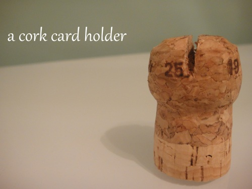 a cork card holder