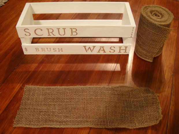 With burlap supplies