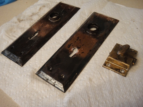 8 Door fixtures after peeling off paint