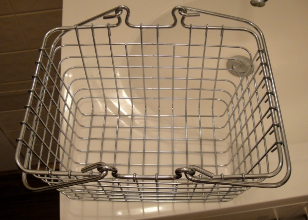 Basket with removed handles