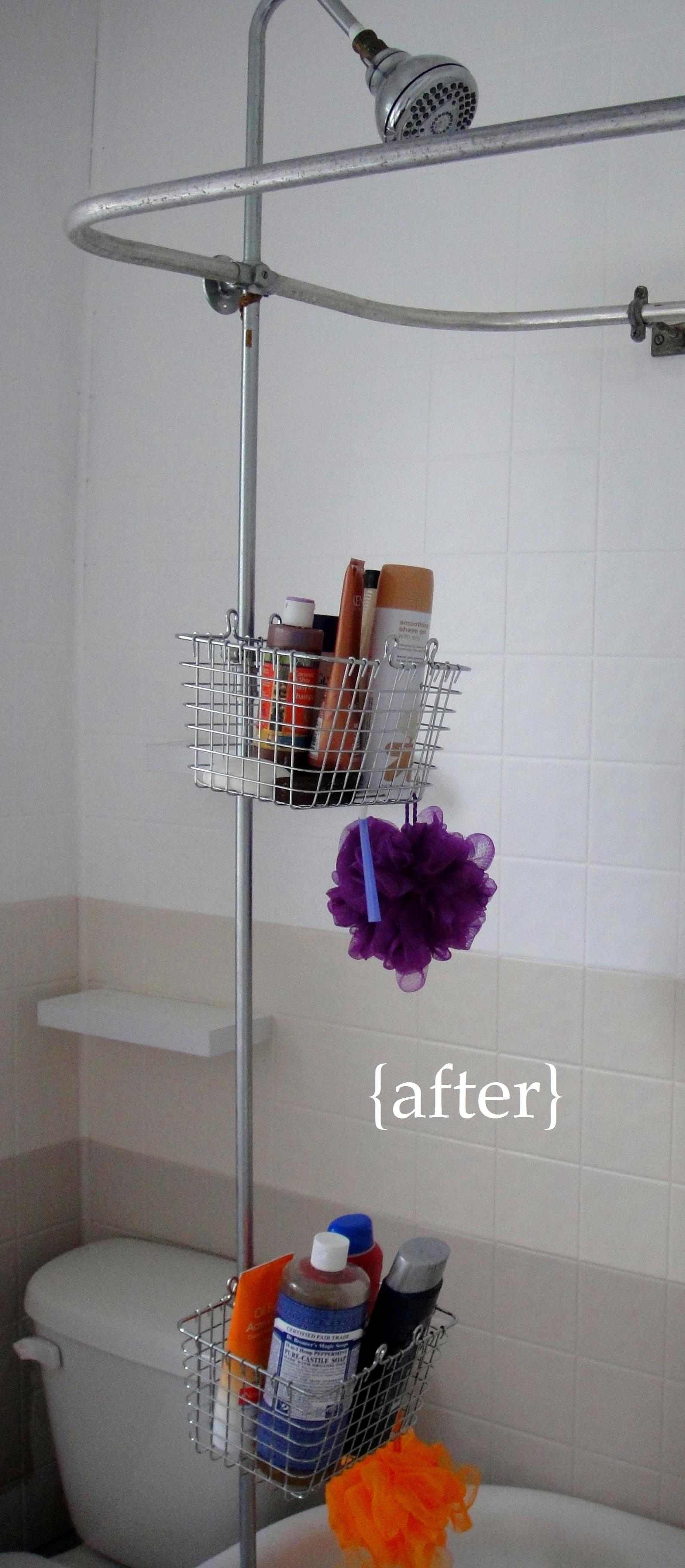 Bathroom shower hose - Bathroom Mini Renovation Part 3 Diy Shower Storage So