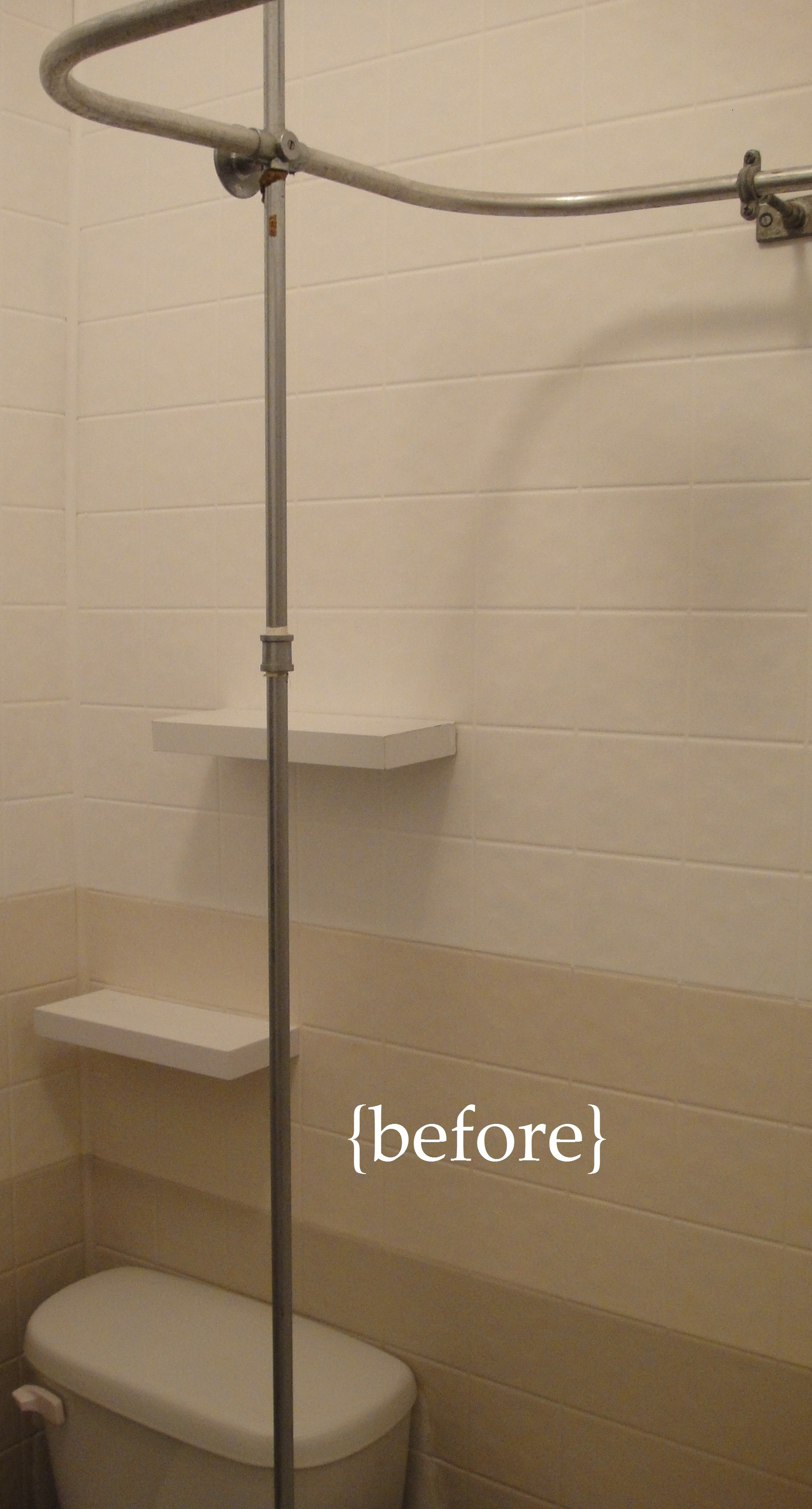 Bathroom Mini-Renovation {Part 3: DIY Shower Storage} | So