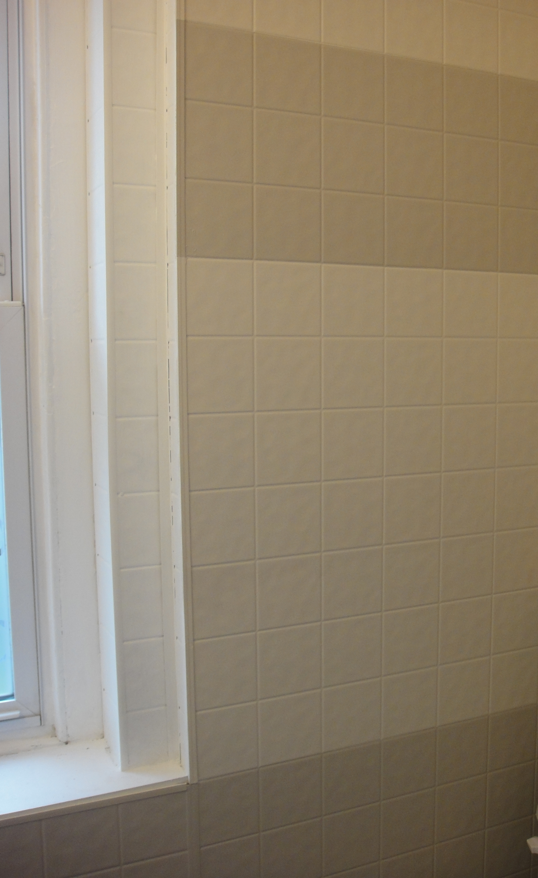 Bathroom Mini-Renovation {Part 4: Painting Tile Board} | So Pretty ...