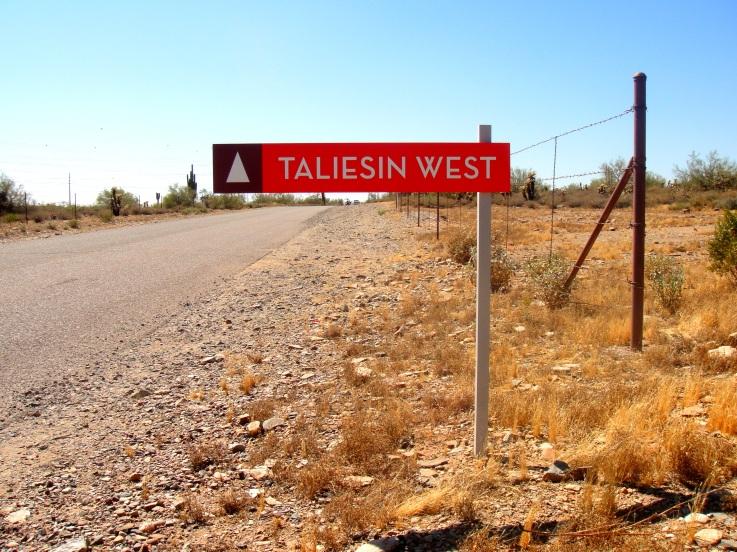 Taliesin West Sign