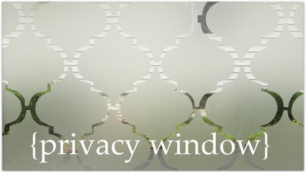 Upclose privacy window