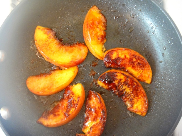 Seared peaches