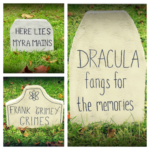 DIY Halloween Tombstones