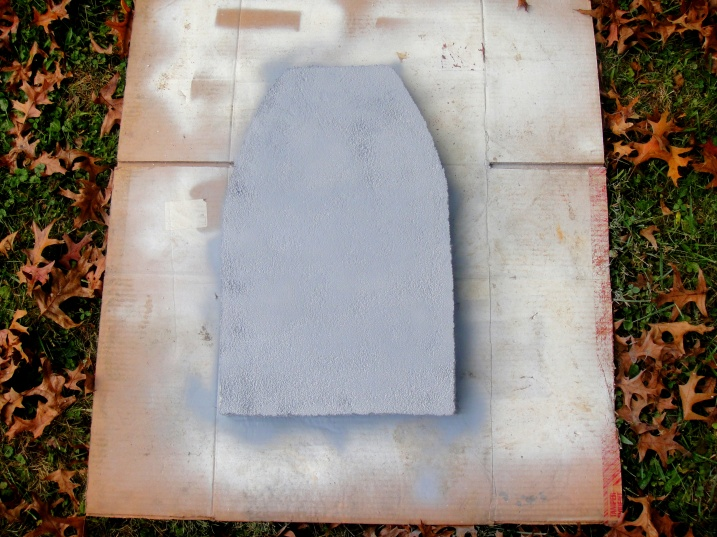 Spraypainted headstones