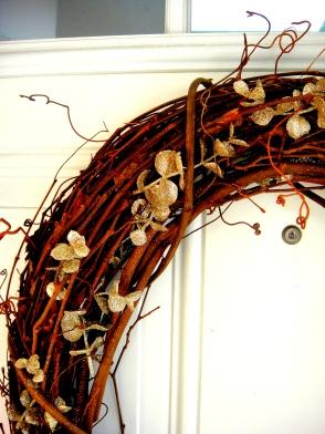 up close autumn wreath