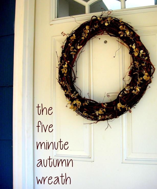 the five minute autumn wreath five minute autumn wreath
