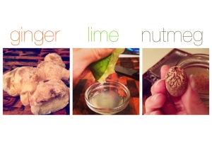 ginger lime nutmeg tea
